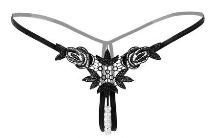 Sexy Pearl String Black 488-4181-Black2-YN194169