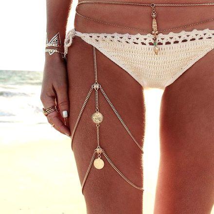 Boho Leg Chain Gold 40242440968