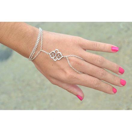 Boho Bracelet Finger Silver 4270650
