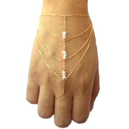 Pearl Bracelet Finger Gold 42707375404