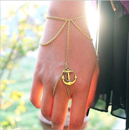 Αnchor Bracelet Finger Gold 4276640