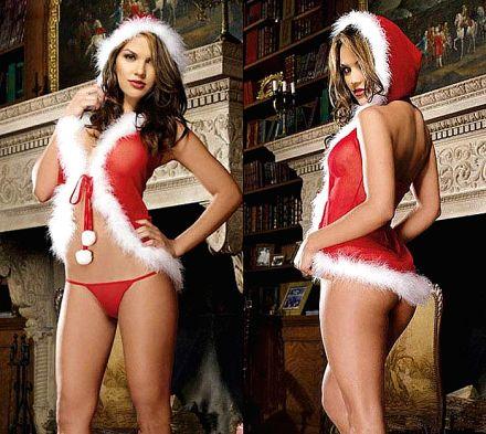 Sexy Santa Red Babydoll 4407166-XS81701