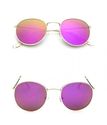 Round Sunglasses Gold-Purple 474 7634-2443-GPU