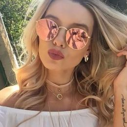 Round Sunglasses Gold-Pink 474 7634-2443-GP