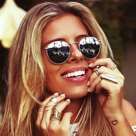 Round Sunglasses Silver-Silver 474 7634-2443-SS