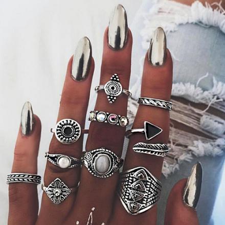 Silver 10pcs Ring 402-6512
