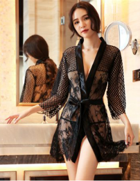 Lace Robe Black MY-YS810105
