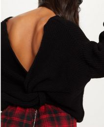 Knitted Sweater Black MY-YN811083-Black