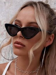 Cat Eye Sunglasses Black 487-8213-488-BB