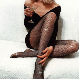 Strass Net Pantyhose MY-83906-Black