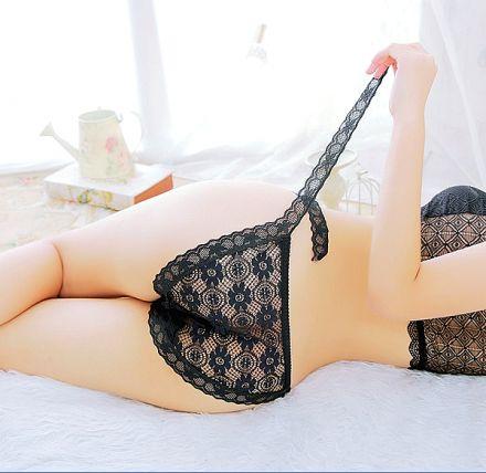 Lace Thong Black MY-868189-Black