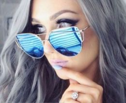 Mirror Cat Eye Silver Sunglasses 436 8819-9440-SB