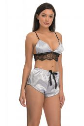 Satin Lace Set Gray MY-YN992306