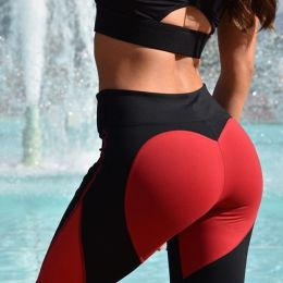 Heart Red/Black Leggings MY-26076