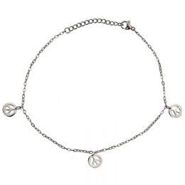 Anklet Chain Peace Signs AB083