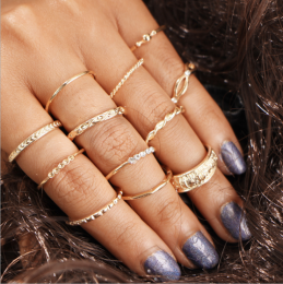 Gold 12pcs Ring MY-BZ200141