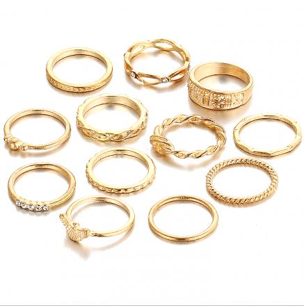 Gold 12pcs Ring MY BZ200141
