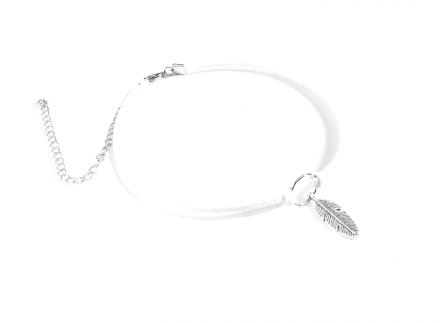 Neckband White/Silver MYC0902-White