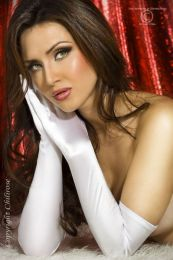 Chilirose Satin Gloves CR-3311 White