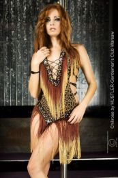 Chilirose Bellydance Dress Brown CR-3400