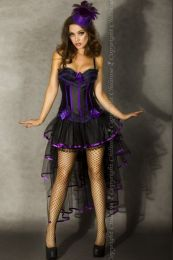 Chilirose-Black/Purple Skirt with Threnody CR-3442