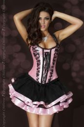Chilirose-Skirt Black/Pink CR-3460