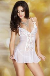 Chilirose Babydoll with String White CR-3472
