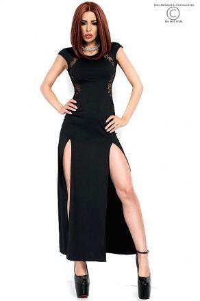 Chilirose Long Black Dress CR-3858