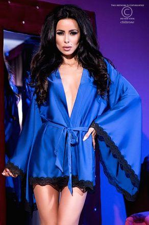 Chilirose Extravagant Robe Blue CR-4112-Blue
