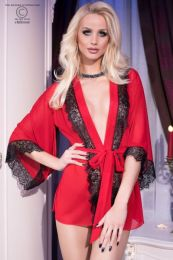 Chilirose Sensual Nightgown Red CR-4113-Red