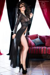 Chilirose Long Sexy Robe  CR-4136