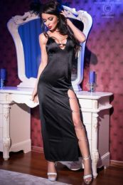 Chilirose Black Long Clubdress CR-4164-Black