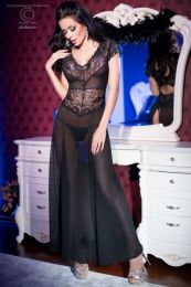 Chilirose Black Longgown and String CR-4167-Black