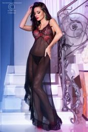 Chilirose Black-Red Long Gown and String CR-4251