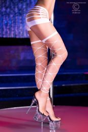 Chilirose Neon-White Stockings CR-4264-Neon-White