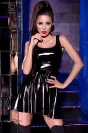 Chilirose Shiny Black Dress CR-4275