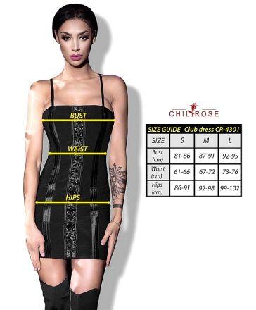 Chilirose Black Mini Dress CR-4301