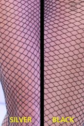 Chilirose 2-pairs Black & Black/Silver Stocking CR-4309
