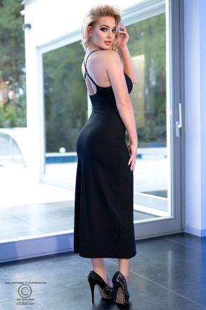 Chilirose Black Long Dress CR-4379