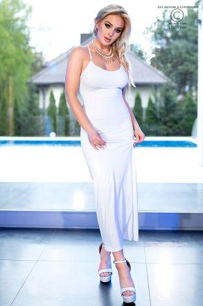 Chilirose White Long Dress CR-4379