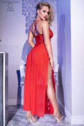 Chilirose Long Gown and String CR-4371-Red