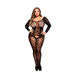 Baci - Longsleeve Crotchless Bodystocking Queen Size E29048