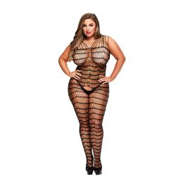 Baci - Criss Cross Crotchless Bodystocking Queen Size E29049