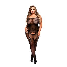 Baci - Crotchless Jacquard Bodystocking Queen Size E29051