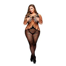 Baci - Criss Cross Crotchless Bodystocking Queen Size E29055