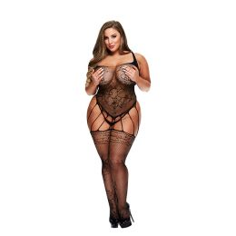 Baci - Strappy Bodystocking with Garters Queen Size E29061