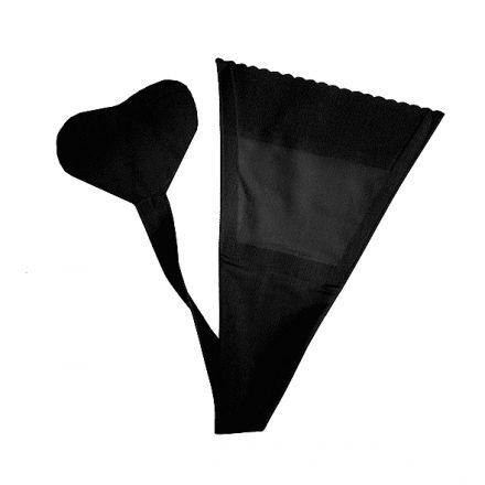 Bye Bra Adhesive Thong Black One Size