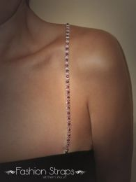 Fashionstraps - Alter Bars With Red Diamantes In Silver Coating FS60R