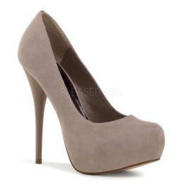 Pleaser Mid-Platform Gorgeous 20 Blush Suede GOR20