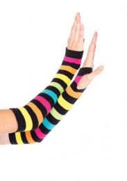 Leg Avenue Neon Rainbow Gauntlet Gloves LG2031